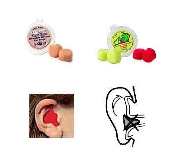 öronproppar vid bad