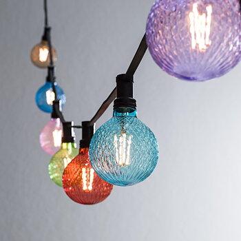 PR HOME Bright light string Svart m. Elegance LED lamp