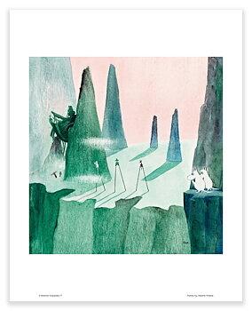 Moomin mini poster - Comet in Moominland