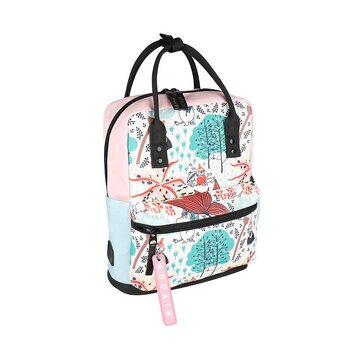 Mumin Viuhti Backpack Magic Forest, white