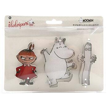 Mumin Pepparkaksformar 3-pack - Lilla My, Mumintrollet & Hattifnatt