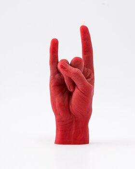 Candle Hand - You Rock, red