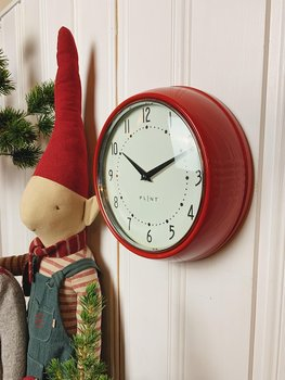 PLINT Retro Wall Clock, red