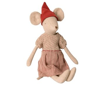 Maileg - Medium Christmas mouse, girl