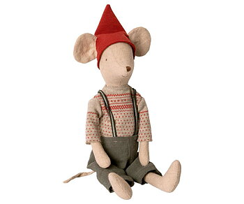 Maileg - Medium Christmas mouse, boy
