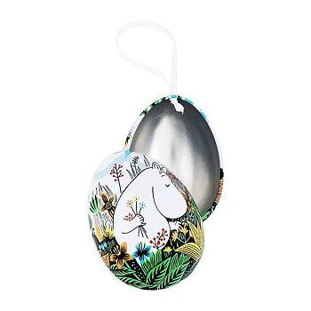 Mumin dekorationsägg med satinband - Snorkfröken, öppningsbart