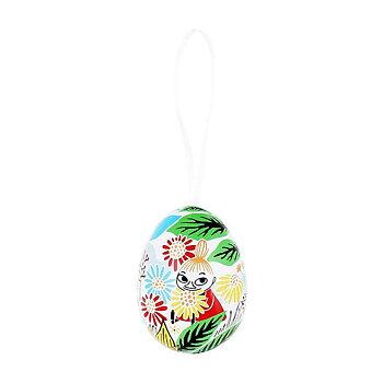 Mumin dekorationsägg med satinband - Lilla My, öppningsbart