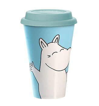 Mumin Take Away Mugg - Moomintroll Happy