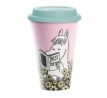 Mumin Take Away Mugg - Snorkmaiden Reading