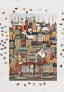 Pussel Stockholm 1000-bitar - Martin Schwartz