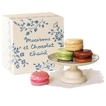 Maileg - Macarons med fat i ask, blå