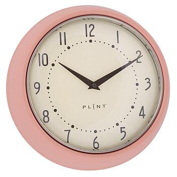 Väggklocka, 50-tal, blank rosa, PLINT