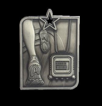 Medalj löpning med stjärna