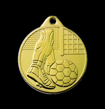 Fotbollsmedalj  guld 50 mm