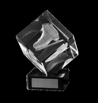 Konståkning kuben 3D glas