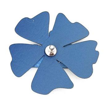 Reflexbrosch i form av en blomma blå poppy från Glimbling hos Jemasmix