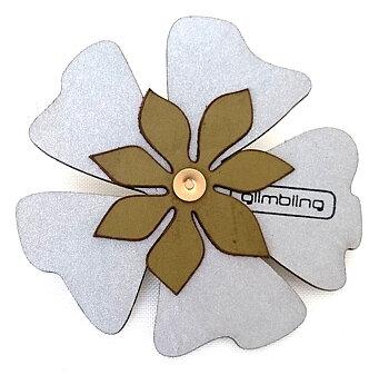Reflex i form av en blomma grön från Glimbling hos Jemasmix