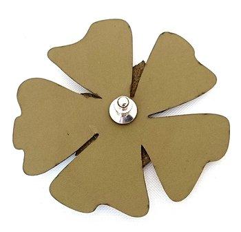 Reflexbrosch i form av en blomma grön poppy från Glimbling hos Jemasmix