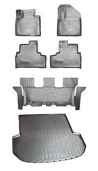 Paket Gummimattor golv + bagage Kia Sorento III