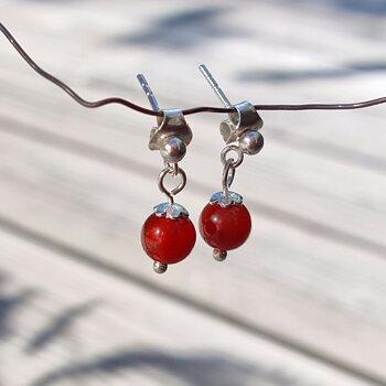 Carnelian Earrings July - 925 Sterling Silver
