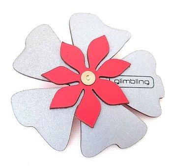 Reflex i form av en blomma poppy röd från Glimbling hos Jemasmix