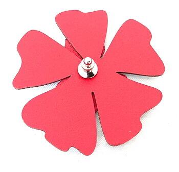 Reflexbrosch i form av en röd blomma poppy från Glimbling hos Jemasmix