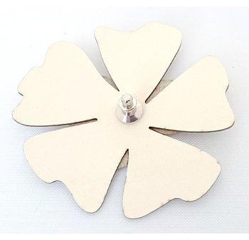 Reflexbrosch poppy I form av en blomma vit Glimbling hos Jemasmix
