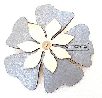 Reflex poppy I form av en blomma  vit från Glimbling från Jemasmix