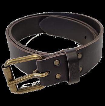 Leather belt single prong, 39 mm
