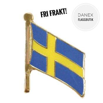 Fint litet Sverige pins med fri frakt