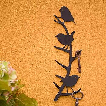 Patère murale en métal - Petits Oiseaux. Supporte un poids allant jusqu'à 5kg