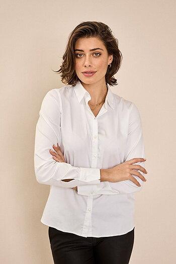 Mos Mosh - Martina Sustainable Shirt White