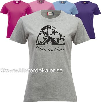 T-shirt. Dalmatiner med egen text