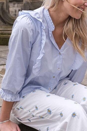 Neo Noir - Charlot Poplin Shirt Light Blue