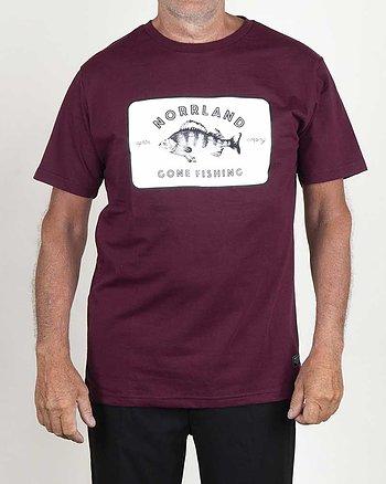 Fisher Vinröd T-Shirt