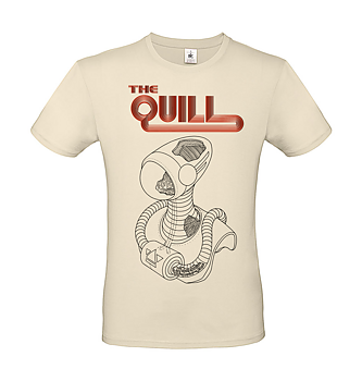 THE QUILL - T-SHIRT, ALIEN (NATURAL)