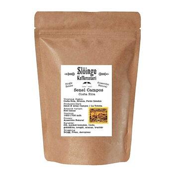 Slöinge kafferosteri - Senel Campos - Costa Rica - Ljusrostade hela kaffebönor - 250g