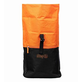 Ryggsäck svart/orange broderad
