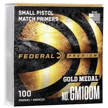 FEDERAL GOLD MEDAL CENTERFIRE SMALL PISTOL PRIMER CLAM 1000/BOX