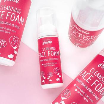 Ansiktsrengöring - Cleansing Face Foam Rose Water & Aloe Vera, 50 ml