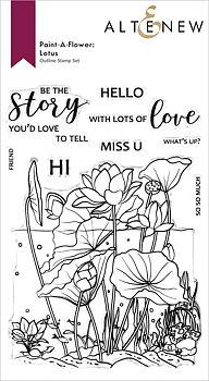 ALTENEW -Paint-A-Flower: Lotus Outline Stamp Set