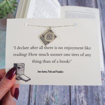 Literary Emporium : Pride And Prejudice Book Lover Necklace