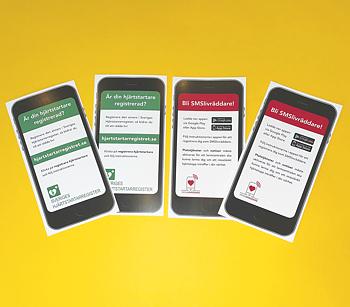 Sms-livräddare informationskort