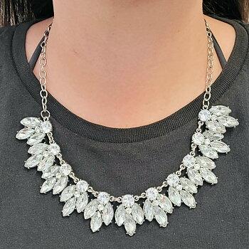 Halsbandset Diamond Leaves