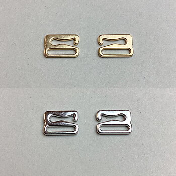 Hake 10mm - guld & silver