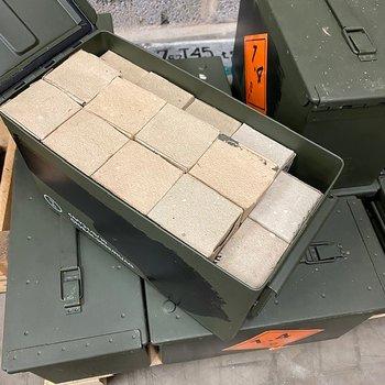 7,62x39 lackadhylsa 1000st M2A1 låda surplus