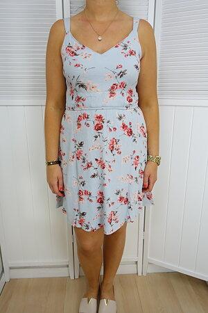 Only - Karmen Short Dress Cashmere Blue Rose Flower Noos