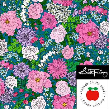 GardenTimes Petrol - Jerseyfabric