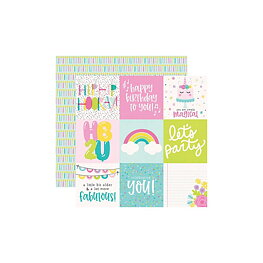"""Simple Stories - Magical Birthday - 4""""X4"""" Elements"""