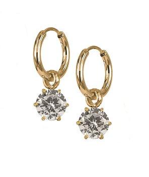 Astrid och Agnes Nova Crystal örhänge guld